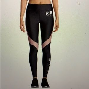 P. E NATION S LEGGING BLACK AND SALMON